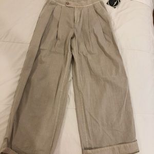 pleated pants free people!